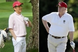 Trump va Abe danh golf