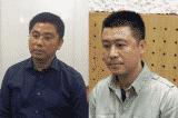 Bị can Nguyễn Văn Dương (đeo kính) và bị can Phan Sào Nam.