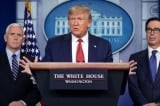 """Trump nói Mỹ phải """"trở lại làm việc"""" khi số ca virus Vũ Hán đã vượt TQ"""