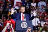 Tổng thống Donald Trump trong buổi tập trung chiến dịch tại Trung tâm BOK, Tulsa, bang Oklahoma.