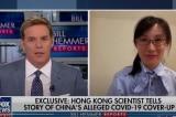 Tiến sĩ Li-Meng Yan (phải) trả lời phỏng vấn của Fox News hôm 13/7. (Ảnh cắt từ video)