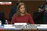 Trước áp lực suốt phiên điều trần, bà Barrett vẫn hết sức tự tin và đĩnh đạc