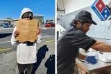 Người đàn ông vô gia cư được làm việc tại cửa hàng pizza Domino